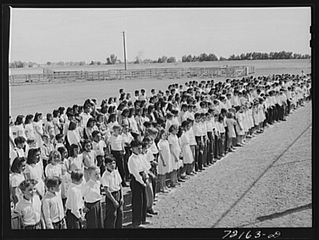 Part of the schoolchildren's victory chorus at the Imperial County Fair, California