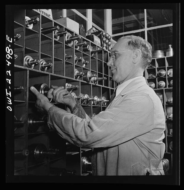 Philadelphia, Pennsylvania. Swedish-American foreman of the SKF roller bearing factory