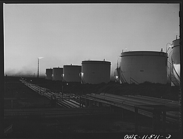 Phillips gasoline plant. Borger, Texas. Storage tanks and pipelines