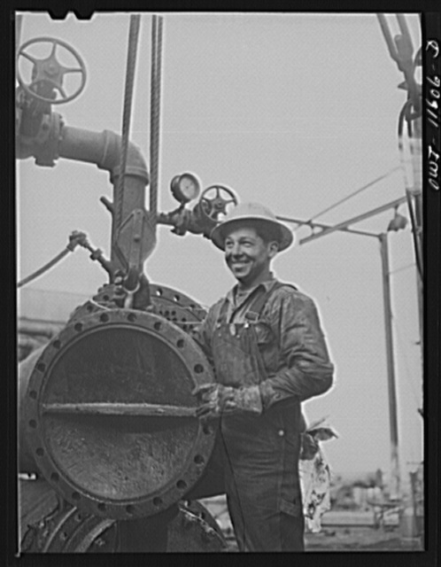Phillips refinery. Borger, Texas. Worker