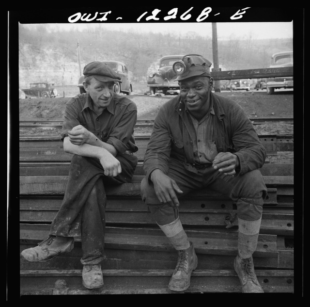 Pittsburgh, Pennsylvania (vicinity). Montour no. 4 mine of the Pittsburgh Coal Company. Miners waiting to go underground