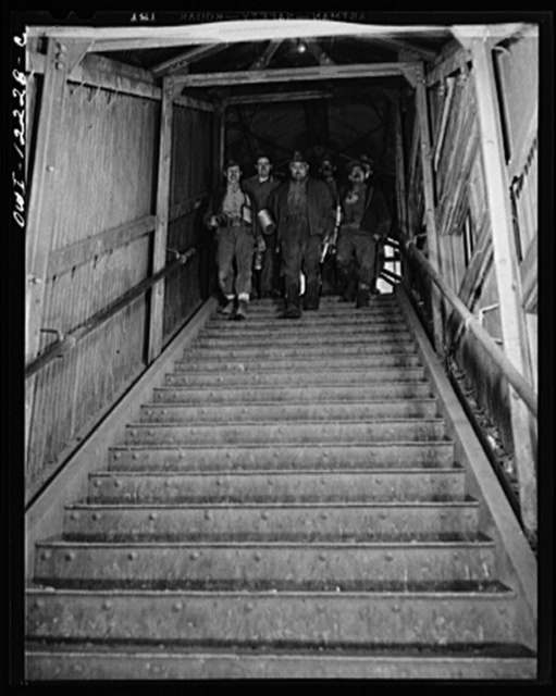 Pittsburgh, Pennsylvania (vicinity). Montour no. 4 mine of the Pittsburgh Coal Company. Miners coming off a shift