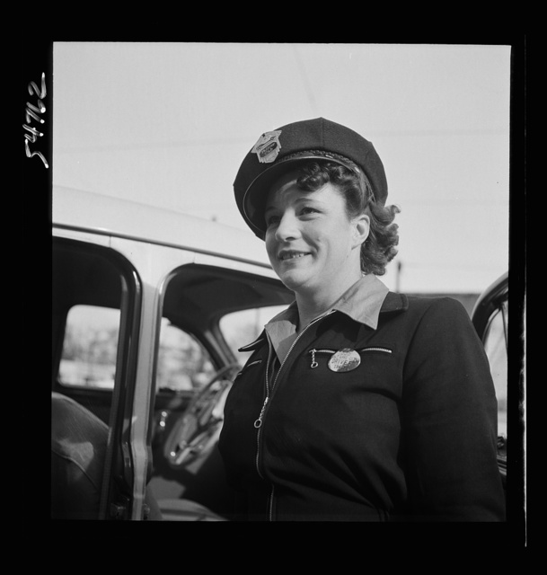 Portrait of a woman training to operate buses and taxicabs