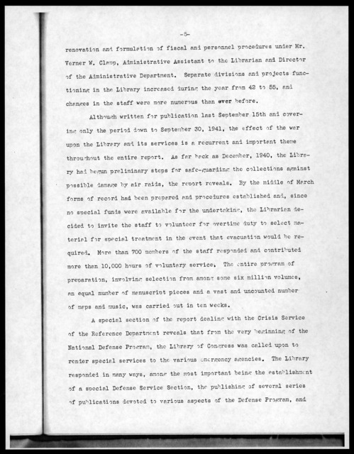 Press Release No. 63, Library of Congress, April 27, 1942