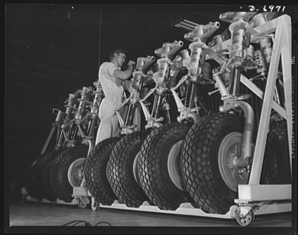 Production B 25 Bombers Nose Wheels For B 25 Bombers Racked Up On