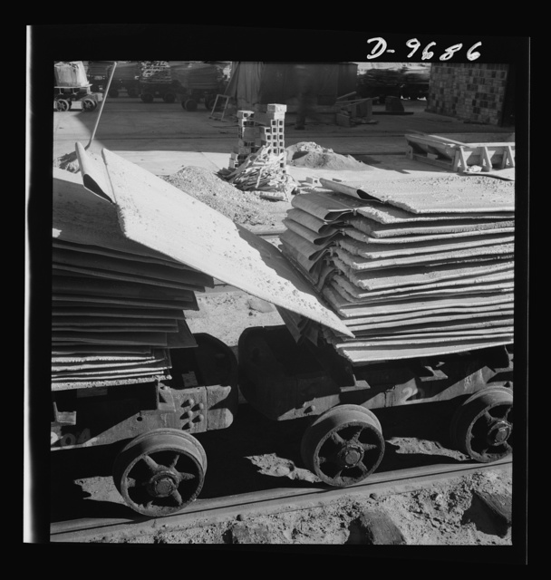 Production. Copper (refining). Pouring copper ingots at a large refining operation. Large amounts of copper are produced for the war effort at the El Paso, Texas plant of Phelps-Dodge Refining Company