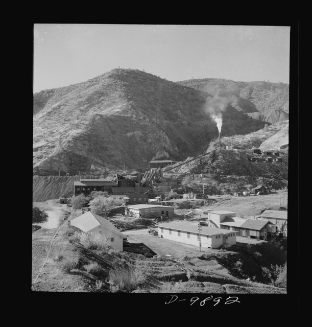 Production. Mercury. Mercury extraction plant near mines at New Idria, California from which ore is secured. Triple-distilled mercury is produced here by the New Idria Quicksilver Mining Company from cinnabar, an ore containing sulphur and mercury mined at a number of workings near the plant