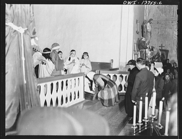 Ranchos de Taos, New Mexico. Christmas Eve in the church