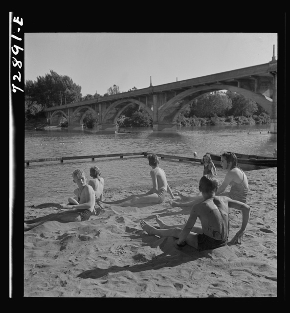 Redding, California. Youngster at the beach
