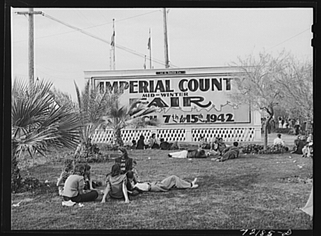 Resting at the Imperial County Fair, California