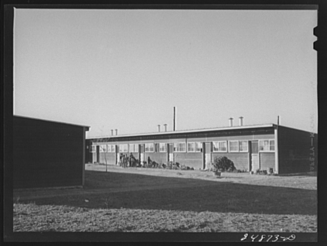 Row shelters. Robstown, Texas. FSA (Farm Security Administration) camp
