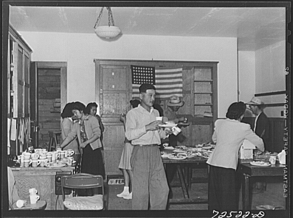 San Benito County, California. Picnic of Japanese-Americans a few days before their evacuation from this area