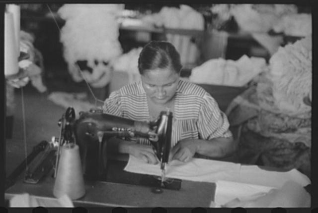 San Juan, Puerto Rico. In the Everglades needlework factory