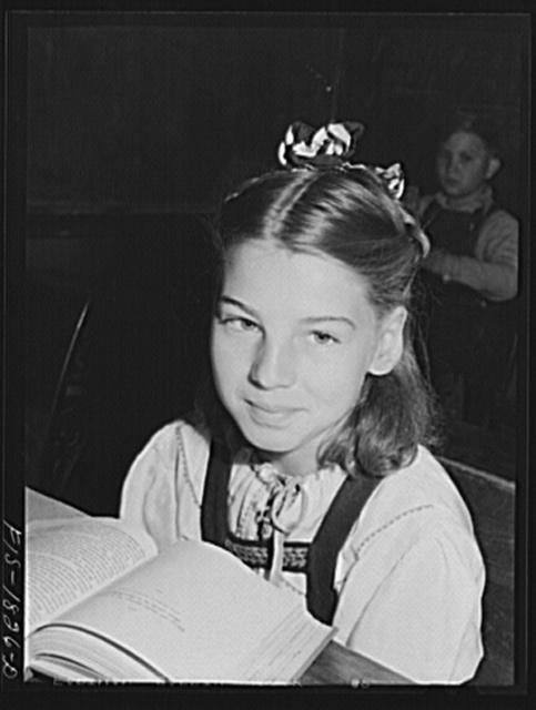 San Leandro, California. Schoolgirl of Portuguese descent