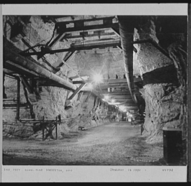 Seventy-one years, or, My life with photography. Two thousand feet down mine, Barberton, Ohio, Jan. 18, 1942