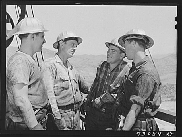 Shasta Dam, Shasta County, California. Workmen