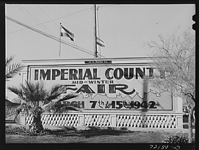 Sign. Imperial County Fair, California