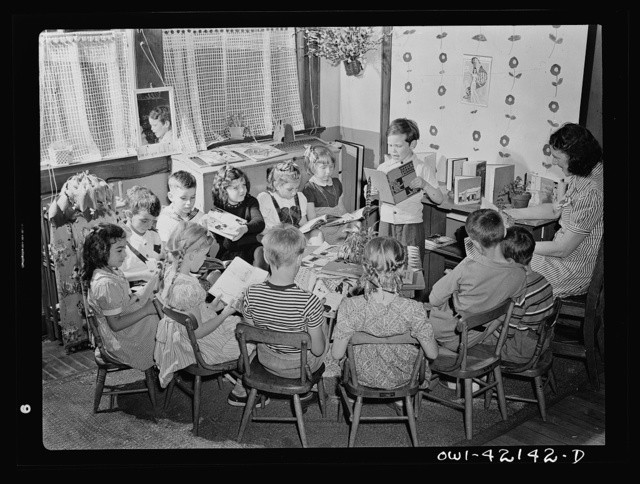 Southington, Connecticut. A class of young children