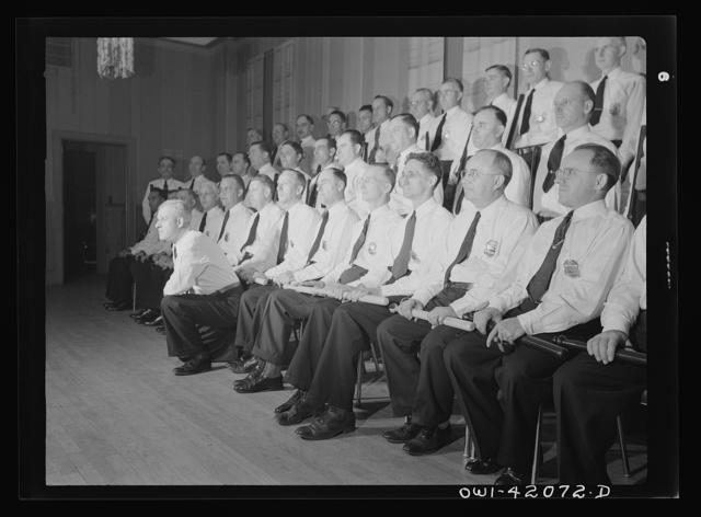 Southington, Connecticut. A group portrait of a policemen's (?) organization