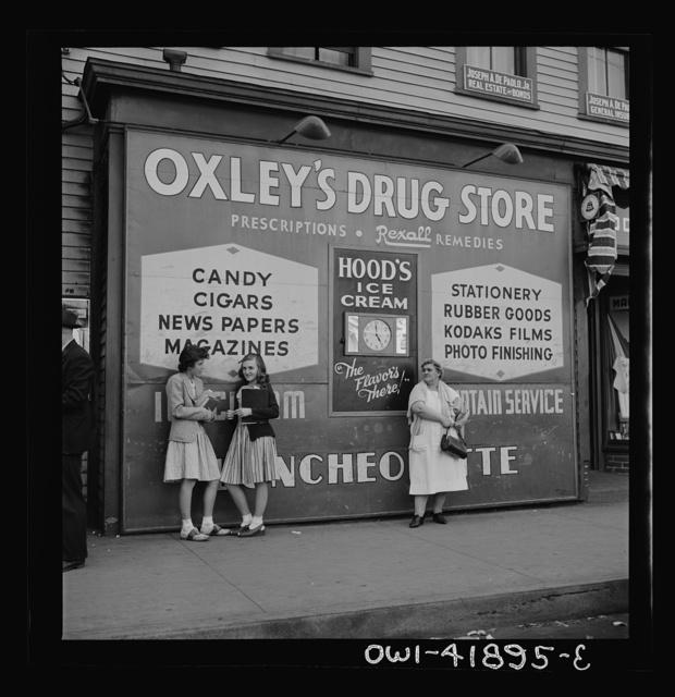 Southington, Connecticut. A store sign