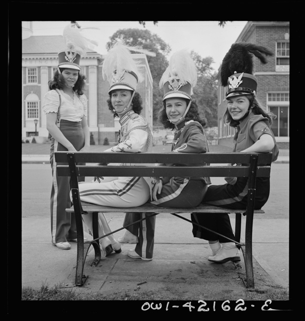 Southington, Connecticut. An American town and its way of life. Southington girls, members of the youth drum corps