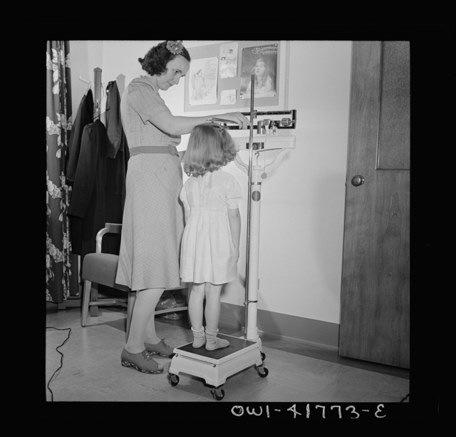 Southington, Connecticut. At the health center, the people of Southington may receive medical advice and a certain amount of medical care (such as physical check-ups, which this girl is receiving) without cost