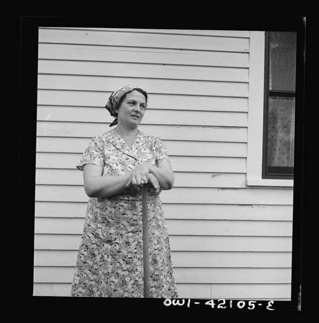 Southington, Connecticut. Mrs. John Chimbor, one of the newer generations of Americans. She came from Iceland twenty years ago