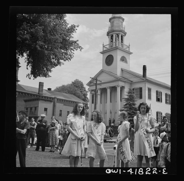 Southington, Connecticut. Southington school children staging a patriotic demonstration