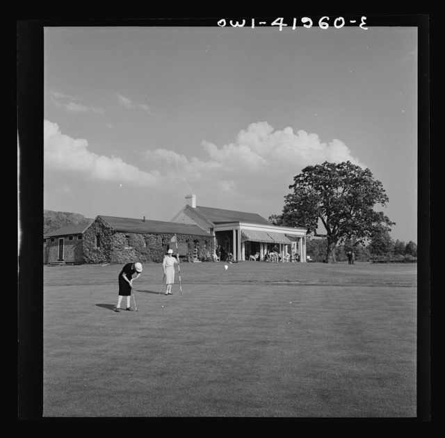 Southington, Connecticut. Southington's nine-hole country club golf course. Membership fee in the club is purposely low (thirty-five dollars a year) so that everyone who enjoys the game may have a chance to play