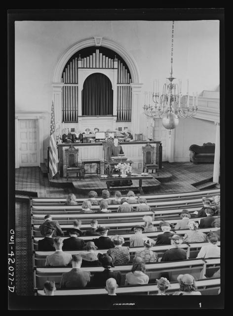 Southington, Connecticut. Sunday service