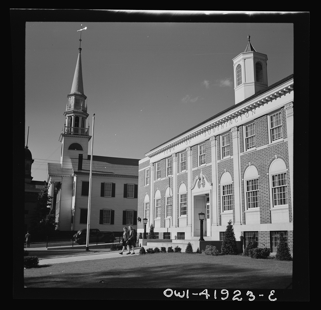 Southington, Connecticut. Town hall, in which all of the people meet to make their own laws