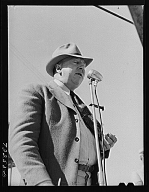 Speaker on Farm Bureau Day at the Imperial County Fair, California
