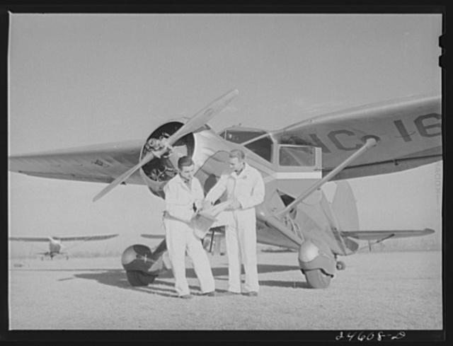 Student pilots. Meacham Field, Fort Worth, Texas