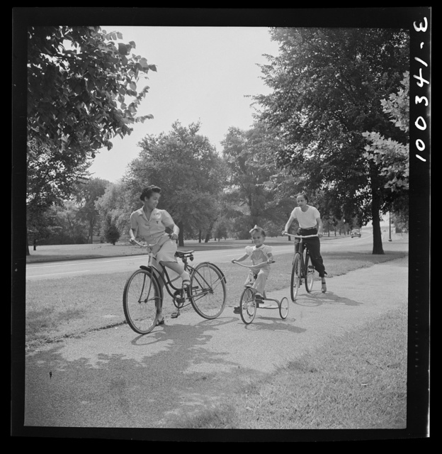 Sunday cyclists in East Potomac Park, Washington, D.C.