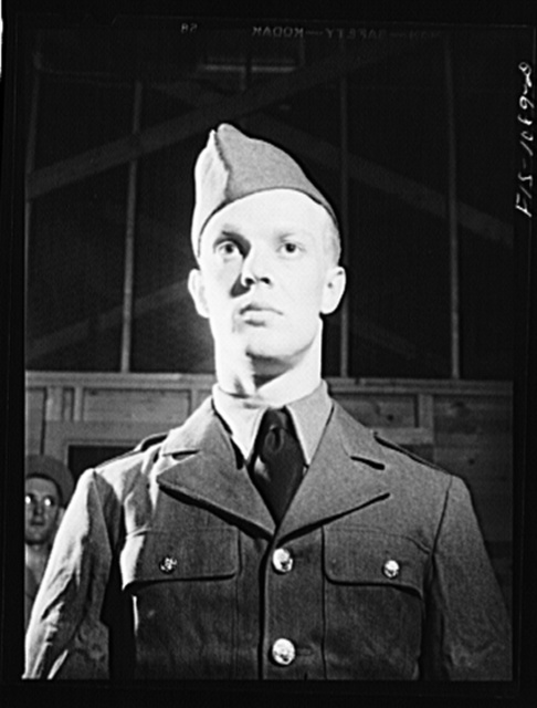 Swedish-American selectee in Minnesota being inducted into the U.S. Army