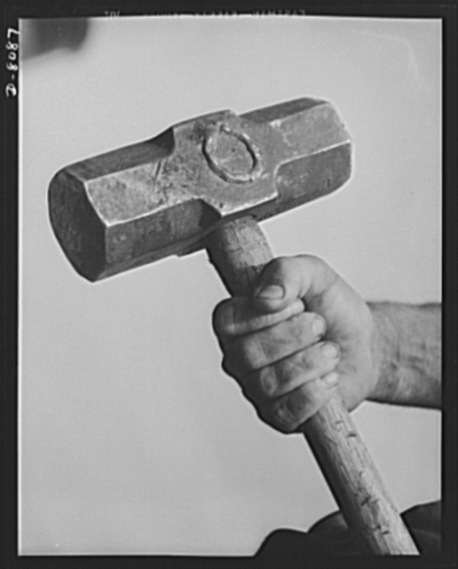 Tennessee Valley Authority. Watts Bar Dam hydroelectric plant. A sledge hammer in the hands of a husky ironworker at TVA's Watts Bar steam plant. This plant will supplement the big hydroelectric installations at Watts Bar Dam, which has an authorized output of 90,000 kilowatts, and a possible ultimate of 150,000 kilowatts. Each of the four big turbo-generators in the steam plant is rated at 60,000 kilowatts