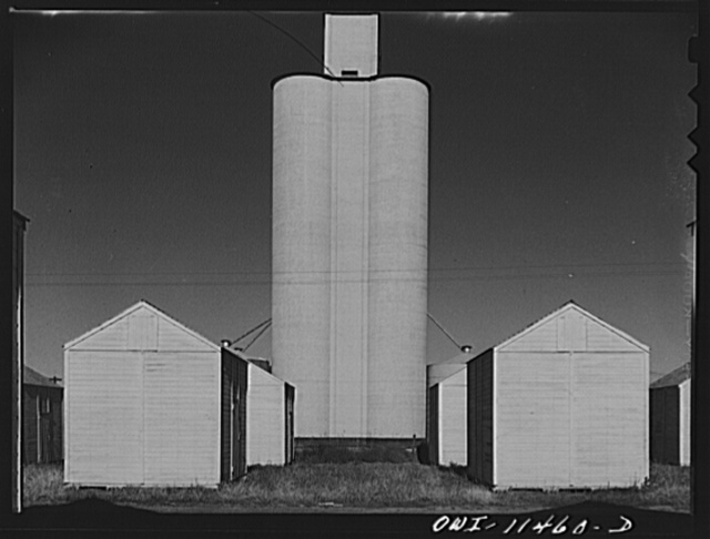 Texhoma, Texas. Wheat storage in the northern Panhandle