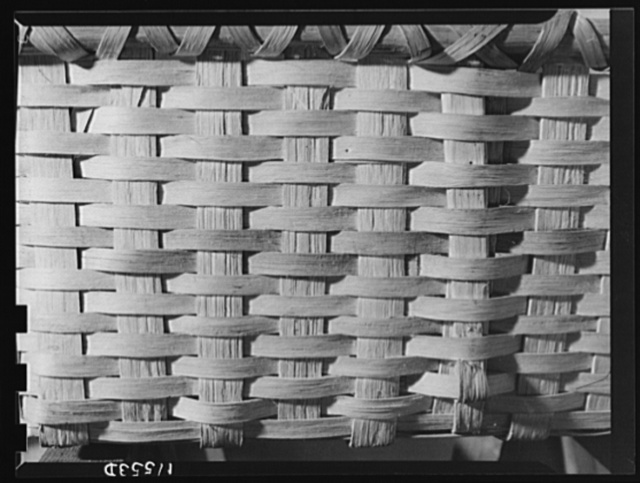 Texture background for motion picture and filmstrip titles. Split hickory basket