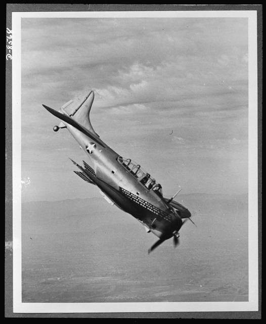 The Douglas A-24 (Dauntless) light dive bomber, is the Army counterpart of the Navy SBD, with certain modifications to meet Army requirements. It was designed for dive-bombing operations against ground troops and installations. It is equipped with slotted diving flaps to decrease air speed and obtain greater accuracy. The Dauntless is more maneuverable than the German Stuka and is capable of carrying heavier bomb loads