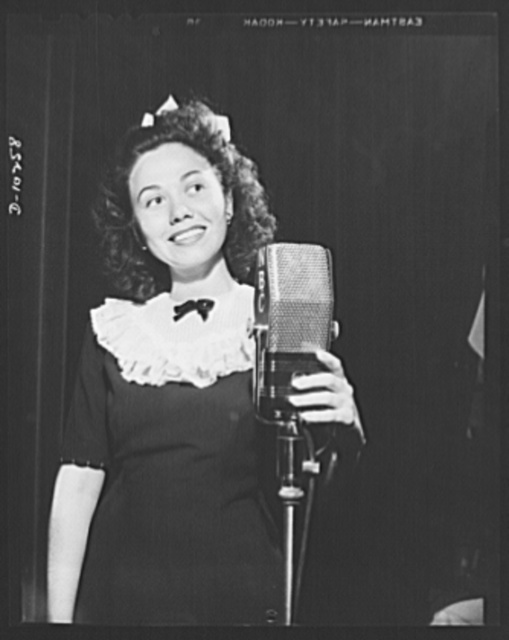 Three Thirds of the Nation. Pretty Connie Haines, singer on the War Production Board (WPB) radio program Three Thirds of a Nation, presented Wednesdays on the Blue Network. How about more girls like Connie?