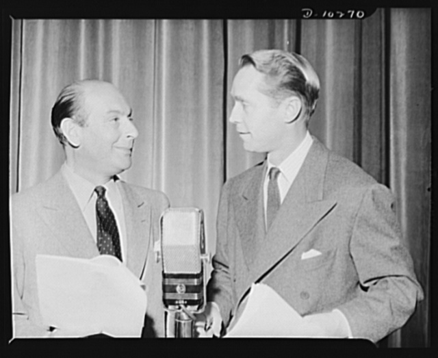 Three Thirds of the Nation. Sir Cedric Hardwicke and Franchot Tone share mike honors on War Production Board (WPB) radio show Three Thirds of the Nation, Blue Network, June 3, 1942