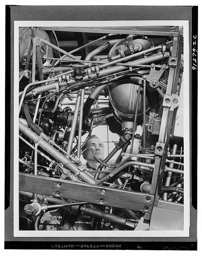 Training plane under construction in a Canadian factory
