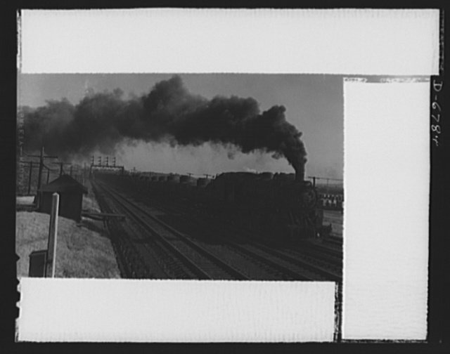 Transportation. Tank cars. This train of tank cars on the Baltimore and Ohio Railroad illustrates the new plan for solid-train movement of oil. The plan cuts down the time consumed in the previous turn-around of tank car equipment, making more cars available to haul oil to the East