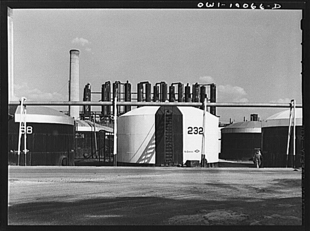 Tulsa, Oklahoma. Storage tank at the Mid-continent refinery