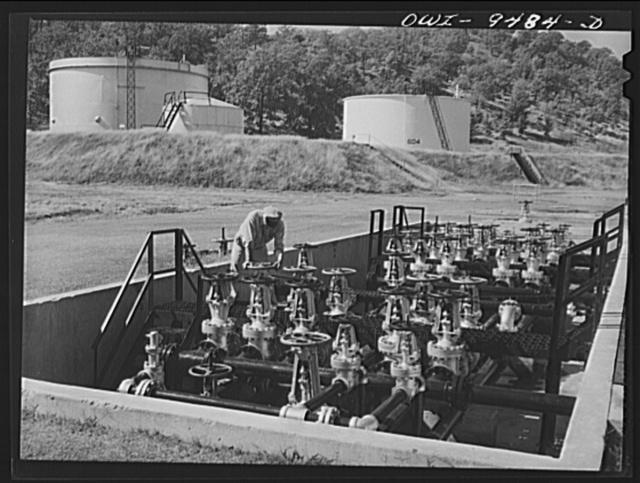 Tulsa, Oklahoma. Valve manifold at the Great Lakes pumping station