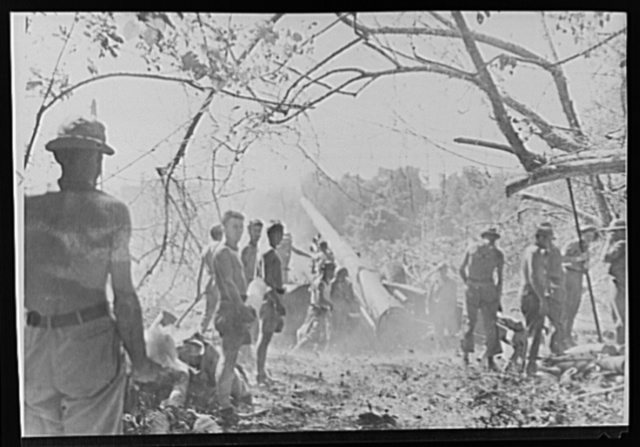 U.S. Army in final drive on Guadalcanal. American soldiers, clad in the briefest clothing because of intense heat, blast away at the few remaining enemy positions left on Guadalcanal in the Solomons during the final offensive which led to liberation of the island. This is a 155 mm. Cannon