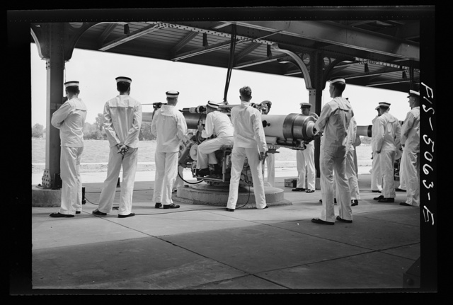 U.S. Naval Academy, Annapolis, Maryland. Instruction in gunnery