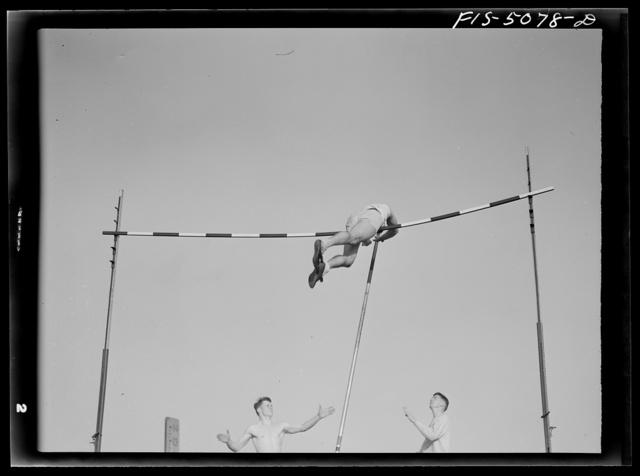 U.S. Naval Academy, Annapolis, Maryland. Pole vaulting