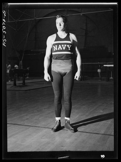 U.S. Naval Academy, Annapolis, Maryland. Wrestler (?)