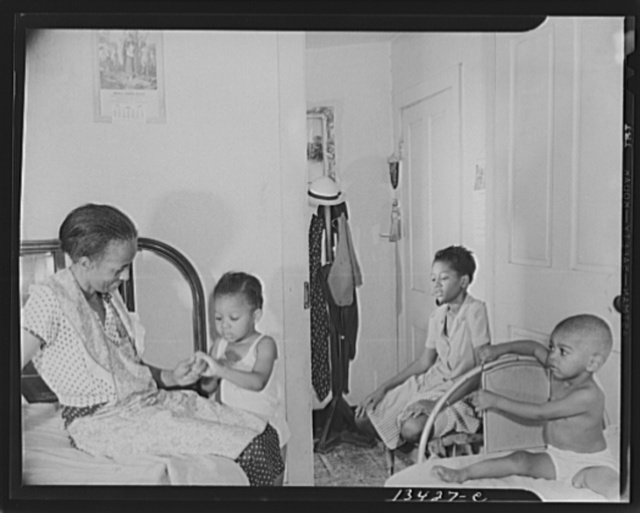 Washington, D.C. Adopted daughter and two grandchildren with Mrs. Ella Watson, a government charwoman